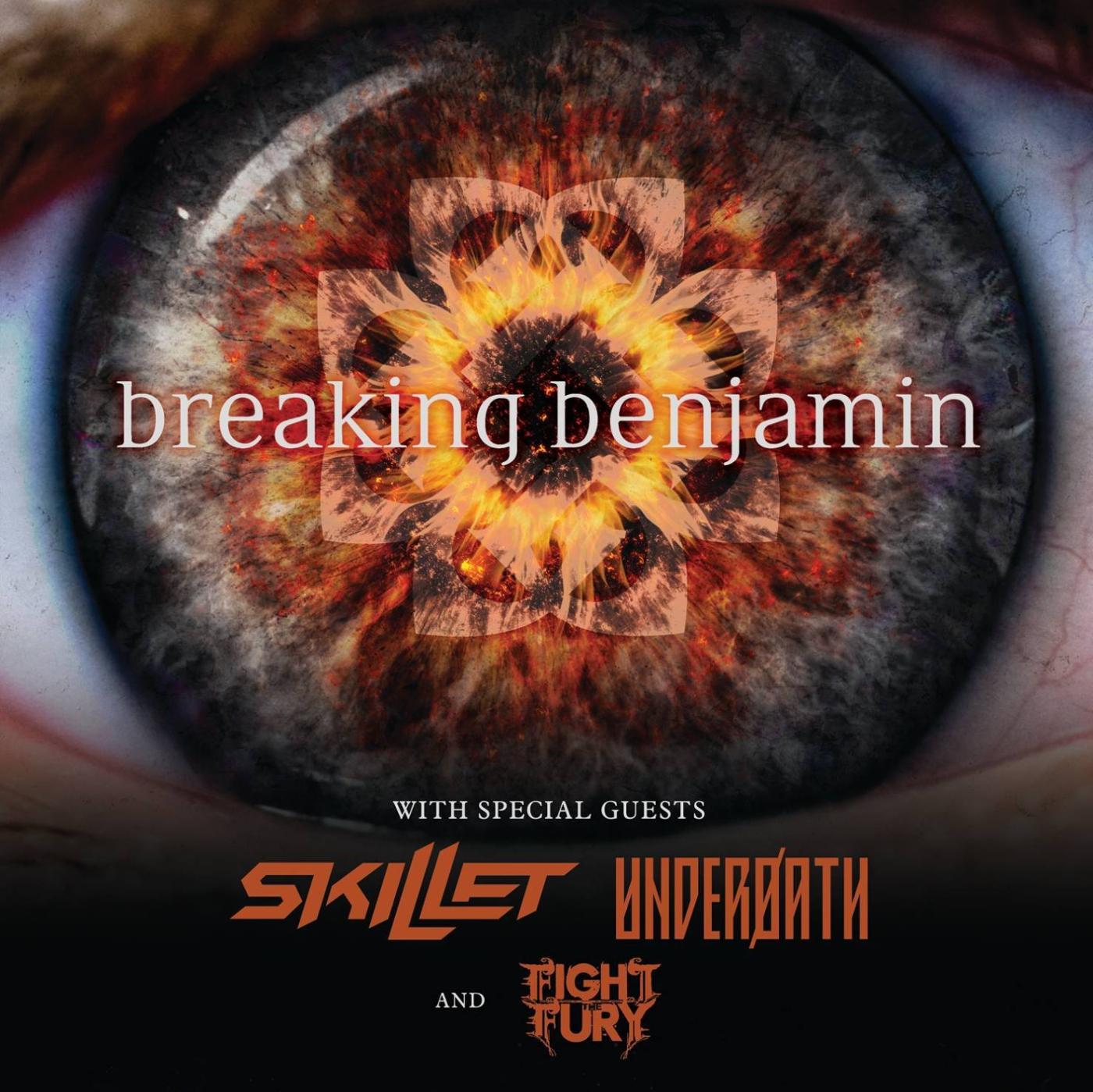 Breaking Benjamin Skillet Tour Poster