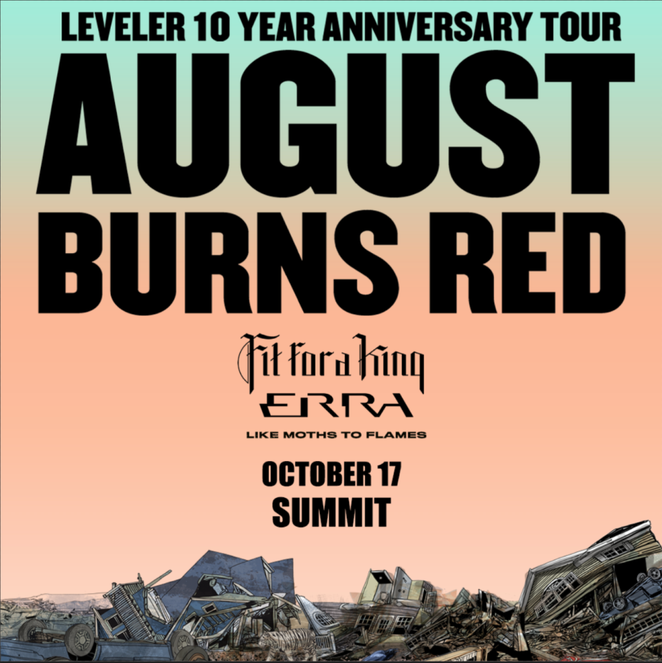 August Burns Red Leveler 10th Anniversary Tour